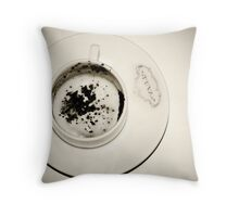 No more coffee Throw Pillow