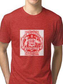 Australia Five Shillings Postage Tri-blend T-Shirt