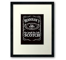 Hennigans - the no smell, no tell scotch (Kramer) Framed Print
