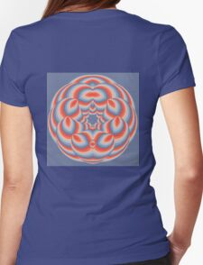 Sunset Globe Womens Fitted T-Shirt