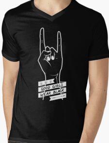 Good Girls Wear Black Mens V-Neck T-Shirt