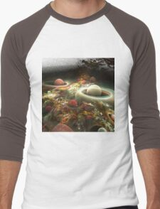 abstract corall reef background. Men's Baseball ¾ T-Shirt