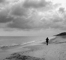 Dunwich Beach in Winter by Trevor Durrant