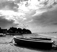 Wrabness Beach, Stormy Skies by Trevor Durrant