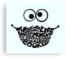 Cookie Monster Typography  Canvas Print