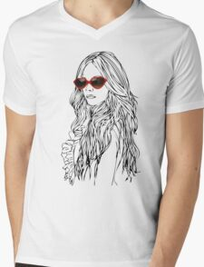 girls girls girls Mens V-Neck T-Shirt
