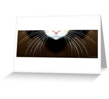 Cat Art - Super Whiskers Greeting Card