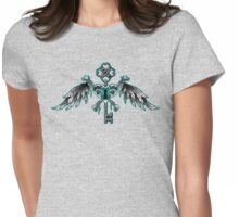 Key Heart Womens Fitted T-Shirt