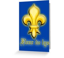 FRANCE, FRENCH, Fleur de lys,  fleurs-de-lis, French heraldry, Knights Lily Greeting Card