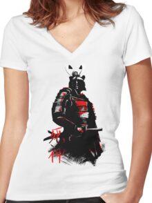 Shinigami Samurai Women's Fitted V-Neck T-Shirt