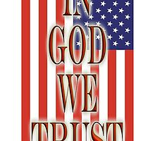 America Motto, In God we trust, USA, American, official motto, flag by TOM HILL - Designer