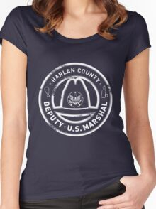 Harlan County Deputy US Marshal Grunge Women's Fitted Scoop T-Shirt