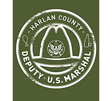 Harlan County Deputy US Marshal Grunge Photographic Print