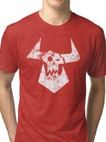 Ork Glyph White Tri-blend T-Shirt