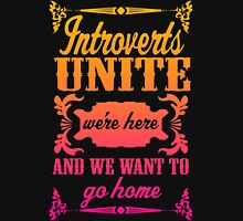 Introverts Unite Womens Fitted T-Shirt