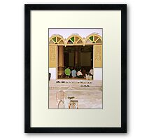 Prayer Time - Vientiane, Laos. Framed Print