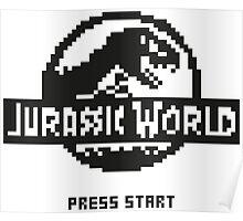 Jurassic World  NES (Black) Poster