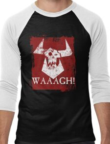 Ork Red Waaargh! Men's Baseball ¾ T-Shirt