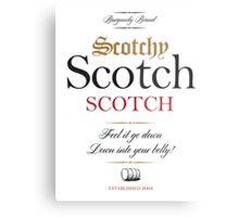Scotchy Scotch Scotch - Ron Burgundy Metal Print