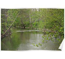 White River -Selma, Indiana from the Smithfield Bridge Poster