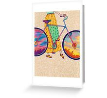 Bike tour Greeting Card
