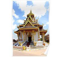 Shiny Wat - Vientiane, Laos. Poster