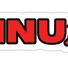 Linux - soviet hammer and sickle logo Sticker