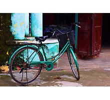 classic bike - on the streets of Hoi Ann Photographic Print