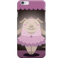 Dancing pig iPhone Case/Skin
