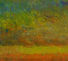 Abstract Landscape Series - Golden Dawn by Michelle Calkins