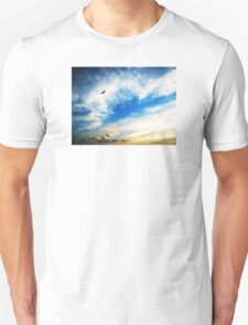 Above The Clouds - American Bald Eagle Art Painting T-Shirt