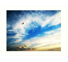 Above The Clouds - American Bald Eagle Art Painting Art Print