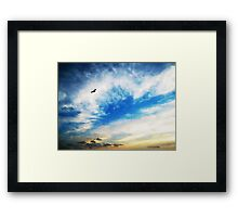 Above The Clouds - American Bald Eagle Art Painting Framed Print