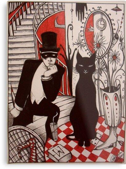 Murder At The Black Cat Bar by John Dicandia ( JinnDoW )