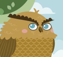 Owl in a branch Sticker