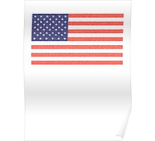 American Faded Flag, Stars & Stripes, USA, Old Glory, The Star-Spangled Banner, America, AmericanaUSA Poster