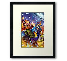 Salty Roos - Independence Day Invasion Framed Print