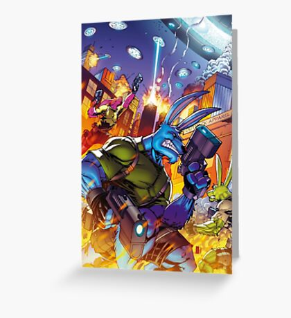 Salty Roos - Independence Day Invasion Greeting Card