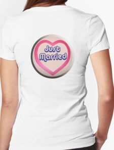 Just Married, Love Heart, Marriage, Married, Wedding, Wed, Hen Night T-Shirt