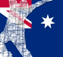 Australian Flag Skater  Sticker