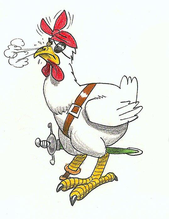 pirate chicken by sirbonessa