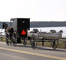 Amish buddy hauling a canoe by capturingsmiles