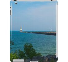 Port Washington Lighthouse and Breakwater iPad Case/Skin
