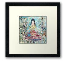 LITTLE UNICORN GIRL Framed Print