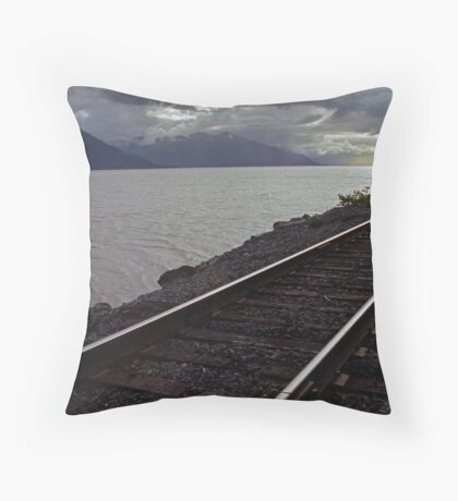 Alaska Rail Throw Pillow