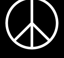 Ban the Bomb, Peace, Old School, Symbol, CND, Campaign for Nuclear Disarmament, White by TOM HILL - Designer