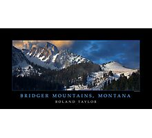 Bridger Mountains, ©2010 Roland Taylor Photographic Print