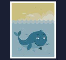 Whale at sea Kids Tee