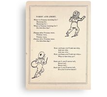 Miniature Under the Window Pictures & Rhymes for Children Kate Greenaway 1880 0010 Tom and Jimmy Canvas Print