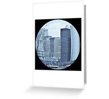 Eye on the city - Fisheye print Greeting Card